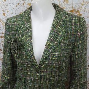 Express Design studio Boucle green Jacket size 6
